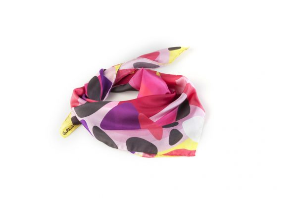 colorful scarves and foulards made in italy