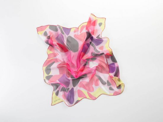 chifon de seda fresco para primavera