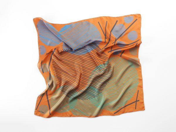 carré grande en seda colores naranja