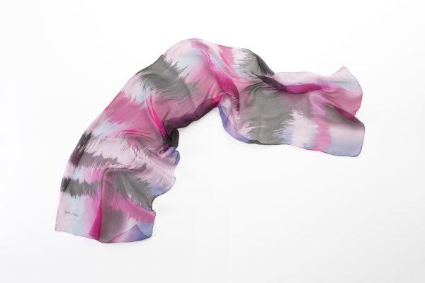 silk chifon foulard sunrise rosa