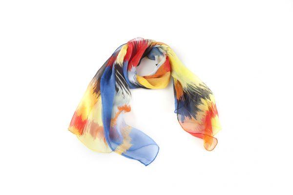 silk chiffon foulard knot