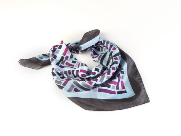 medium size silk bandana in grey