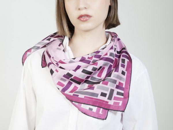 Wild west squared silk scarf