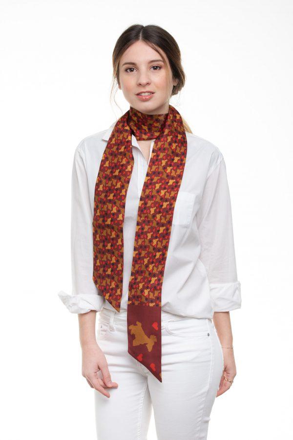 maxi twilly de seda con estilo