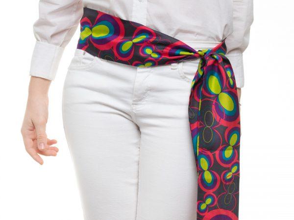 cinturon de seda en colores modernos