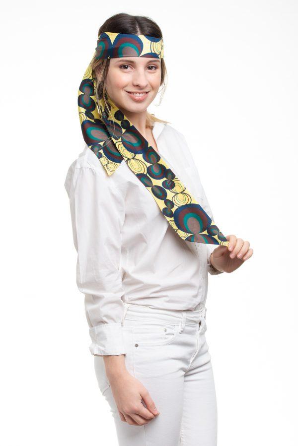 accesorio de seda para la cabeza