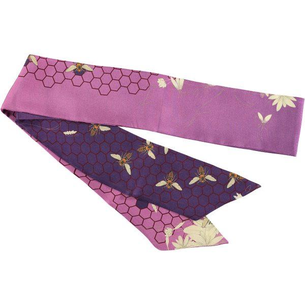 accesorio de seda color lavanda hecho en españa