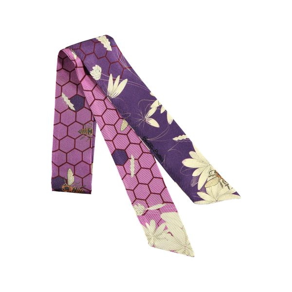 brazalete de seda color lila