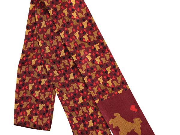 accesorio de seda en color terracota hecho en españa