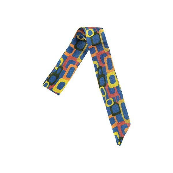 mini accesorio de seda en azul