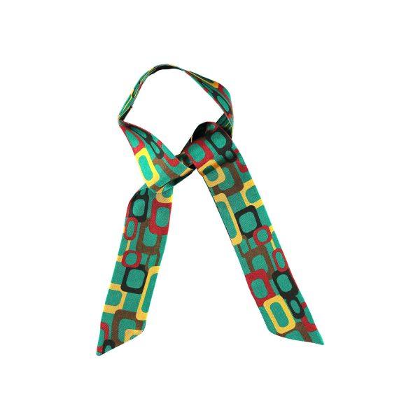 accesorio de seda links en verde